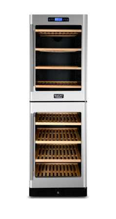 KUCHT 155-Bottle Dual Zone Wine Cooler Built-in with Compressor Stainless - Kegerator Craft