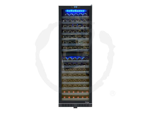 142-Bottle Dual-Zone Wine Cooler with Seamless Glass Door and Stainless Trim - Kegerator Craft