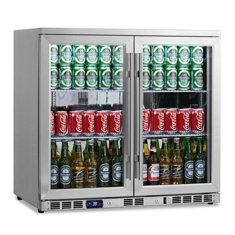 KingsBottle 2 Door Undercounter Beverage Cooler KBU-56C-SS - Kegerator Craft