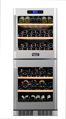 84-Bottle Dual Zone Cooler Built-in with Compressor Stainless - Kegerator Craft