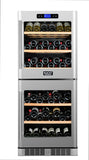 KUCHT 84-Bottle Dual Zone Wine Cooler Built-in with Compressor Stainless - Kegerator Craft