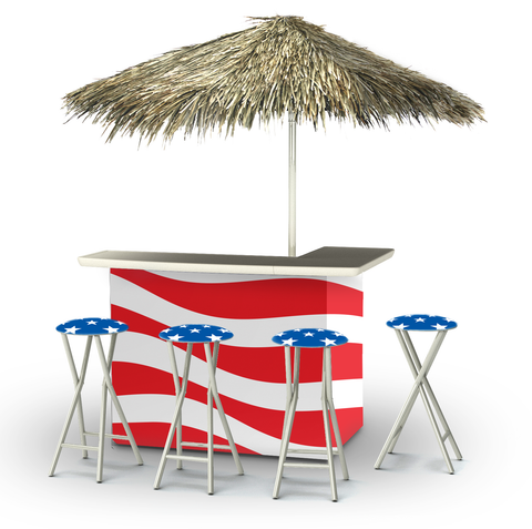 Patriotic Deluxe Bar Set - Kegerator Craft