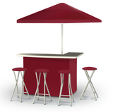 Solid Burgundy Deluxe Bar Set - Kegerator Craft