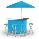 Solid Sky Blue Deluxe Bar Set