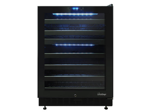 Dual-Zone Touch Screen Wine Cooler 46 Bottle - Kegerator Craft
