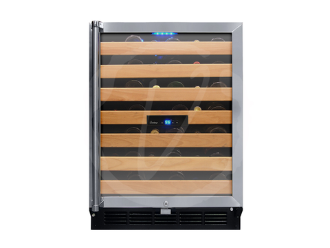 50-Bottle Wine Cooler with Interior Display VT-50SB-ID - Kegerator Craft