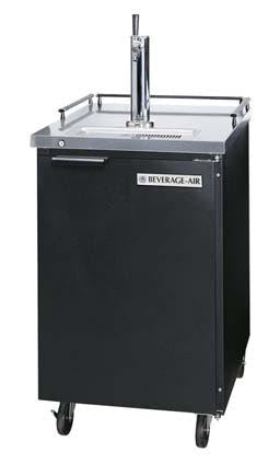 Beverage Air Commercial Beer Cooler With Black Vinyl BM23‐B - Kegerator Craft