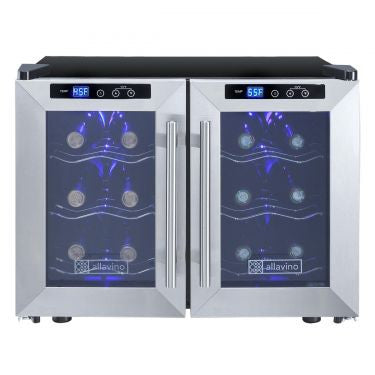 Cascina Series  Thermoelectric Dual Zone Wine Cooler Refrigerator 12 Bottle - Kegerator Craft