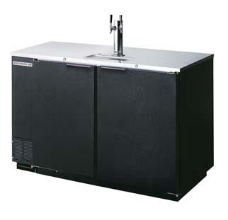 Beverage Air Dual Tap Draft Beer Cooler DD50‐1‐B - Kegerator Craft