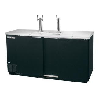 Beverage Air Commercial Draft Beer Cooler Single & Dual Tap DD58‐1‐B - Kegerator Craft