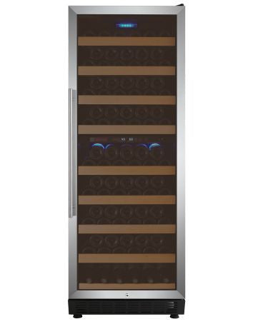 Vite Series 99 Bottle Dual-Zone Wine Cellar Refrigerator - Stainless Door - Kegerator Craft