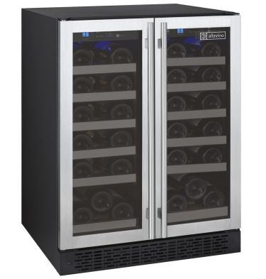 FlexCount Series Two Zone Wine Cooler 36 Bottle French Doors - Kegerator Craft