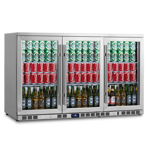 3 Door Stainless Steel Beverage Refrigerator - KBU-328C-SS - Kegerator Craft