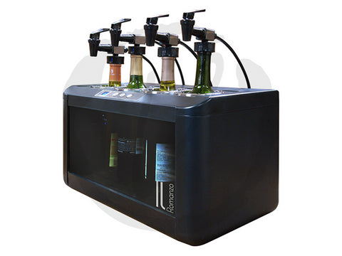Il Romanzo 4-Bottle Open Wine Cooler - Kegerator Craft