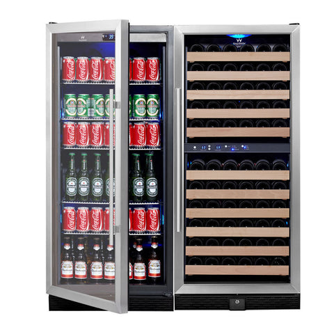 98 Bottle 300 Can Beverage Cooler COMBO - Kegerator Craft