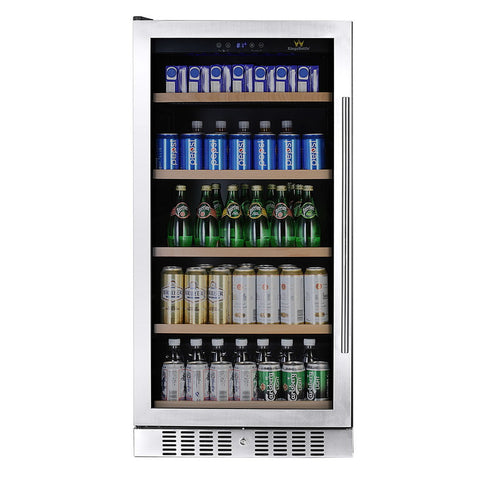 Glass Door Upright Beverage Refrigerator KBU-270B - Kegerator Craft