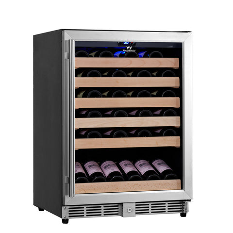 "KingsBottle 24"" Built In Wine Cooler Glass Door KBU-50W - Kegerator Craft"