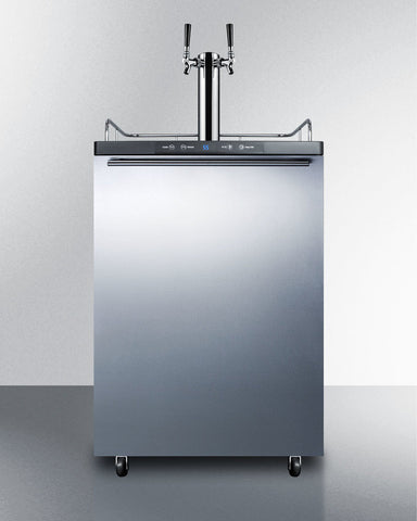 "Summit  24"" Commercial Beer Dispenser Stainless SBC635M7SSHVTWIN - Kegerator Craft"