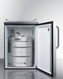 Summit 24' Beer Dispenser with Pro Towel Bar Handle SBC635MBINKSSTB - Kegerator Craft