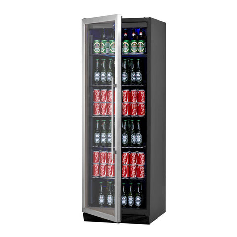 Stainless Steel Beer Fridge With Glass Door Kbu 170b Ss Lhh