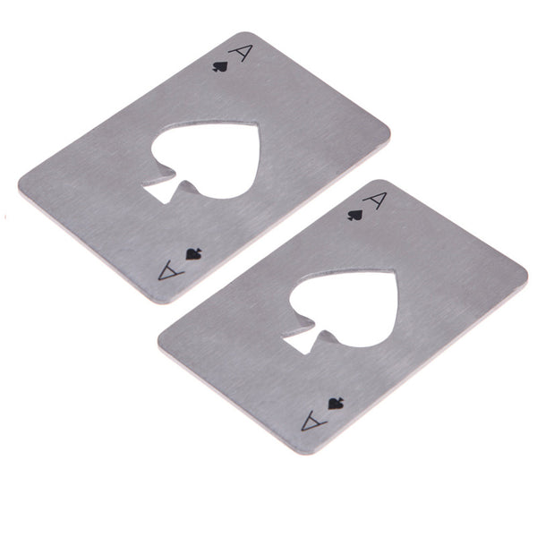 Stainless Steel Beer/Bottle Openers Poker Playing Card - Kegerator Craft
