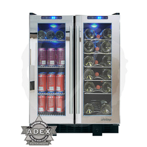 Vinotemp 36 Bottle Touch Screen Wine and Beverage Cooler VT-36TS - Kegerator Craft