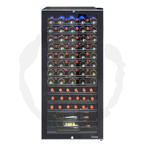 Free Standing 99-Bottle Touch Screen Wine Cooler VT-100TSSB - Kegerator Craft