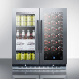 "30"" wide Under Counter Combination Wine and Beverage Center - Kegerator Craft"