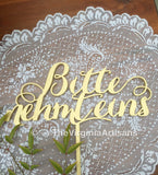 Wedding Decor In German - Bitte Nehmt Eins - Please Take One Sign - Laser Cut Signs in German - Elegance Line