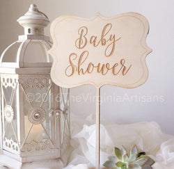 Baby Shower Welcome Sign - Rustic Baby Shower Decor - Baby Shower Decor.