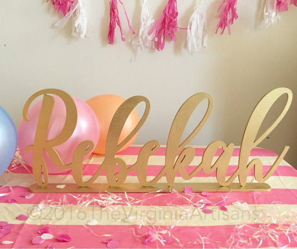 Personalized Name Sign - Kids Personalized Name Sign - Nursery Decor -  Kids Room Decor-   Laser Cut Name Sign - Quiceañera name sign