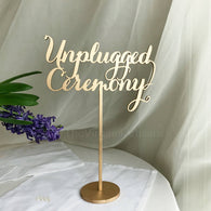 Unplugged Ceremony Sign - Unplugged Wedding Ceremony Sign - No phone please sign - Unplugged Sign - Laser Cut Unplugged Sign