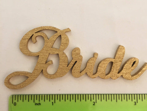 Bride Party Name Tag.  Gold or Silver.