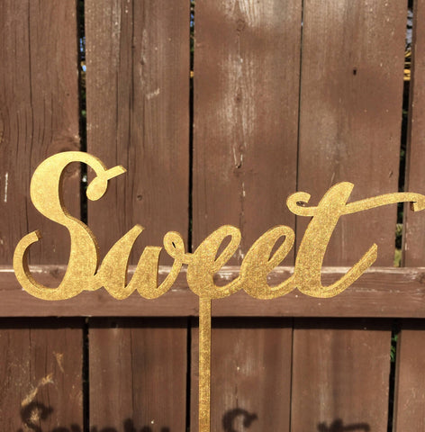 Sweet Table Sign, Event Signage, Gold or Silver or DIY, Elegance Line
