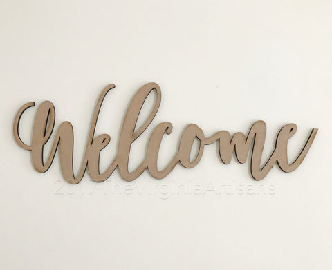 Rustic Welcome Sign - Farmhouse Decor - Rustic Home Decor - Laser Cut Thankful Sign