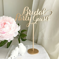 Bridal Party Table Sign - Bridal Party Wedding Sign - Bridal Party Guests - Head Table Wedding Sign - Laser Cut Wedding Sign