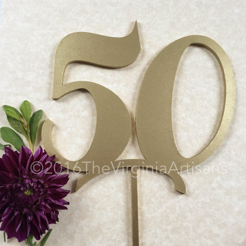 Milestone Numeric Year Old Birthday Cake Topper - Gold - Silver -DIY