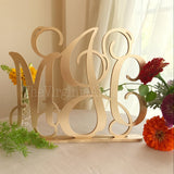 Monogram Sign - Self Standing Monogram Sign - Initials Monogram Laser Cut - Three Letters Monogram Sign - Laser Cut Monogram Sign