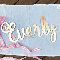 Personalized Nursery Decor - Laser Cut Name - Custom Name For Baby Nursery - Laser Cut Name Sign