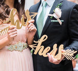 His and Hers Chair Decor Signs - His and Hers Photo Props