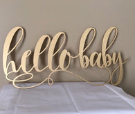 Hello Baby Sign| Hello Baby | Baby Shower Sign | Rustic Baby Shower Sign