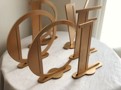 One Letter Listing - Art Deco Letters - Self Standing Initial Letters - Laser Cut Art Deco Letters - Gatsby Style Letters - Wedding Initials
