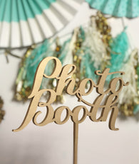 Photo Booth Sign, Photo Booth Signage, Wedding Signs, Party Photo Booth, Gold, Silver or DIY - Laser Cut Photo Booth Sign -  Elegance Line.