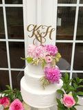 Initials Cake Topper - Two Initials Cake Topper - Two Letters Cake Topper - Heirloom Initials Cake Topper - Initials Wedding Cake Topper.