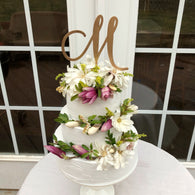 Cake Topper Initial- One Letter Cake Topper - Wedding Cake Topper With Initial - Monogram Cake Topper