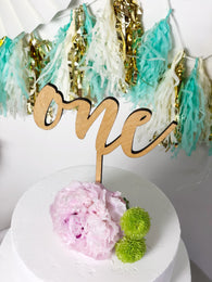 First Birthday Cake Topper - Cake Smash Cake Topper - Cake Smash Party Decor - One Year Old Cake Topper - Cake Smash Prop