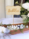 Bubbles Sign - Wedding Bubbles Table Sign - Wood Bubbles Sign - Send off Wedding Bubbles Sign - Rustic Wedding Decor