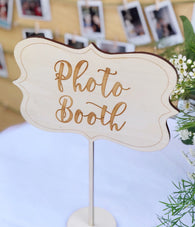 Photo Booth Sign - Wooden Photo Booth Sign - Photo Booth Table Sign - Rustic Wedding Decor