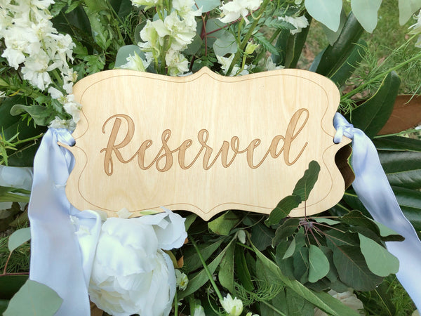 Wooden Pew Reserved Sign - Pew Reserved Sign - Reserved Sign for Pews - Reserved Sign for Chair - Rustic Wedding Decor