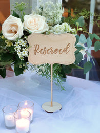Wooden Reserved Table Sign - Reserved Sign - Reserved Sign for Tables - Reserved Sign - Rustic Wedding Decor